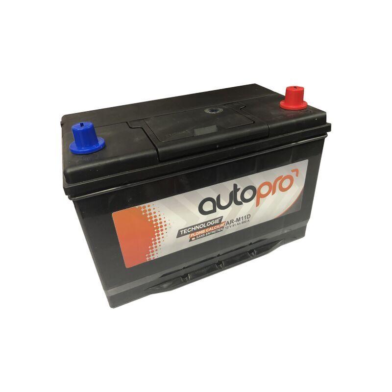 AUTOPRO Batterie 1er prix SMF AR-M11D 91AH 800 AMPS 306x173x225 +D - Autopro