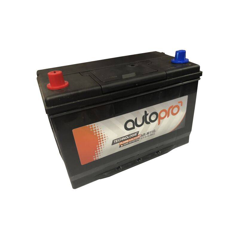 AUTOPRO Batterie AUTOPRO 1er prix SMF AR-M11G 91AH 800 AMPS 306x173x225 +G