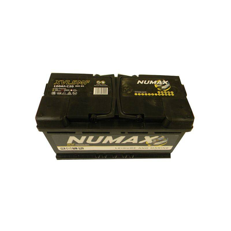 NUMAX Batterie de décharge lente Loisirs/Camping-cars Marine LOISIRS.XVL5MF 12V 100Ah