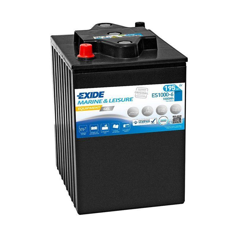 EXIDE Batterie décharge lente Exide Gel ES1000-6 6v 195ah