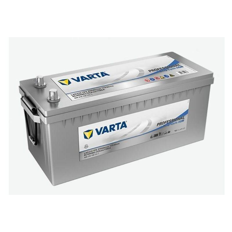 VARTA Batterie Decharge-Lente Varta Agm Lad210 210Ah 1180A