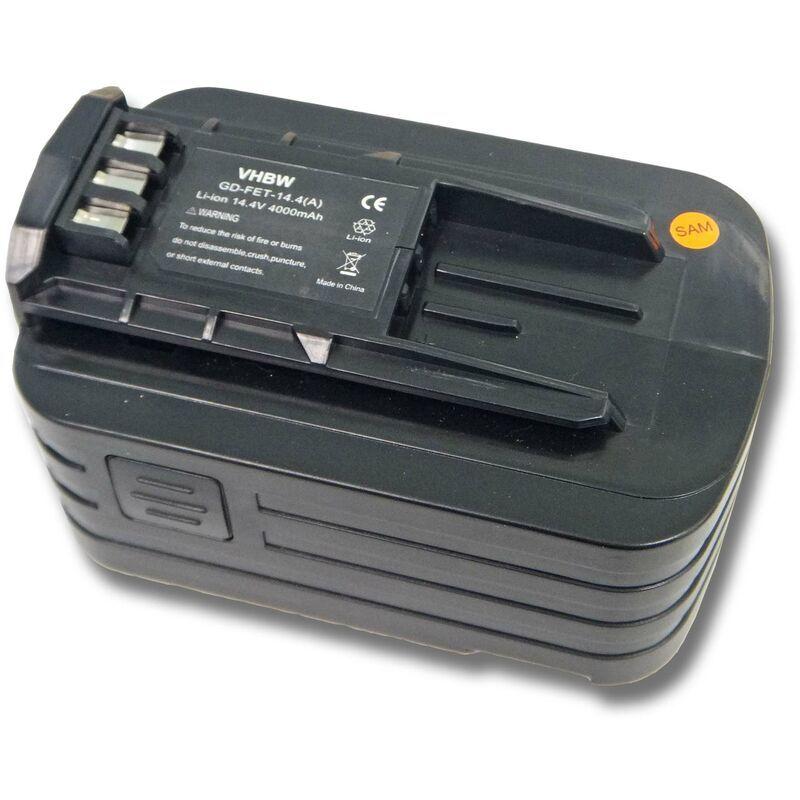 VHBW Batterie Li-Ion 4000mAh (14.4V) pour outils électriques Festo Festool PSBC 420