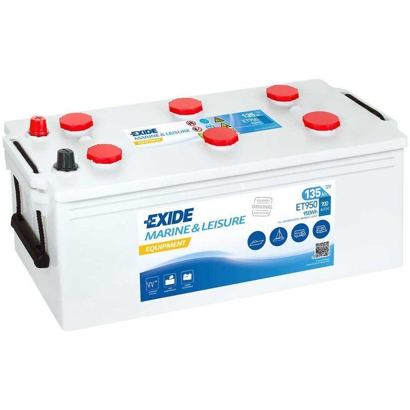 EXIDE Batterie décharge lente Exide ET950 Equipement 12v 135 ah