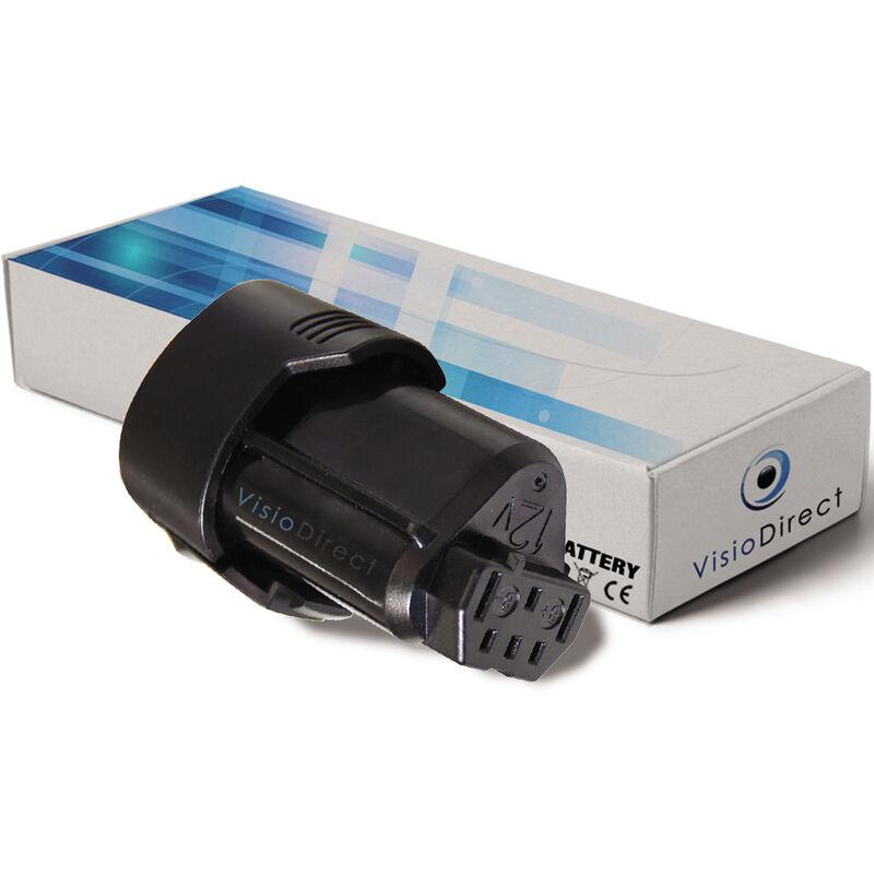 Visiodirect - Batterie pour AEG BSS12C visseuse sans fil 2000mAh 12V