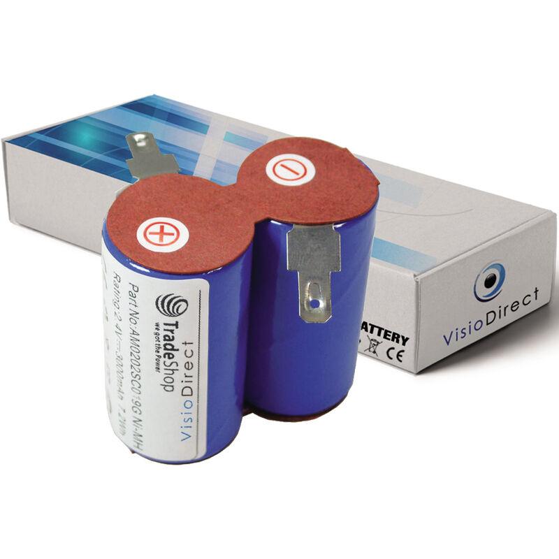 VISIODIRECT Batterie pour Black et Decker HC430 aspirateur sans fil 3000mAh 2.4V
