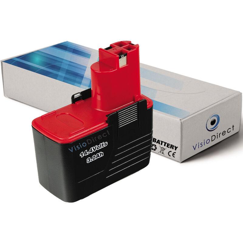 VISIODIRECT Batterie pour Bosch PSR 14.4 VES-2 3610K 3610-K10 3612 3615K 3000mAh 14.4V