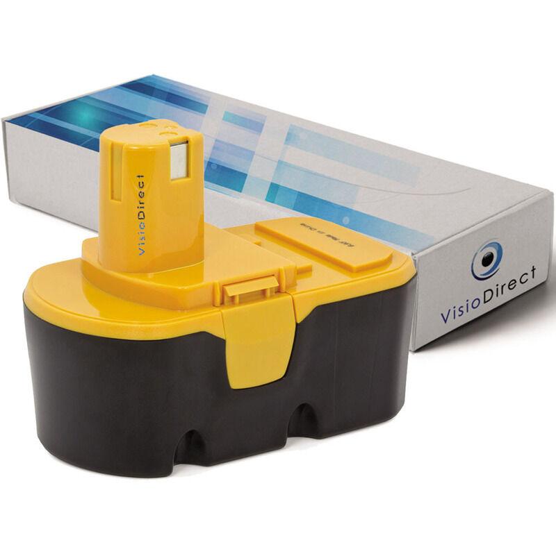 Visiodirect - Batterie pour Ryobi R10631 scie circulaire sans fil 3000mAh 18V