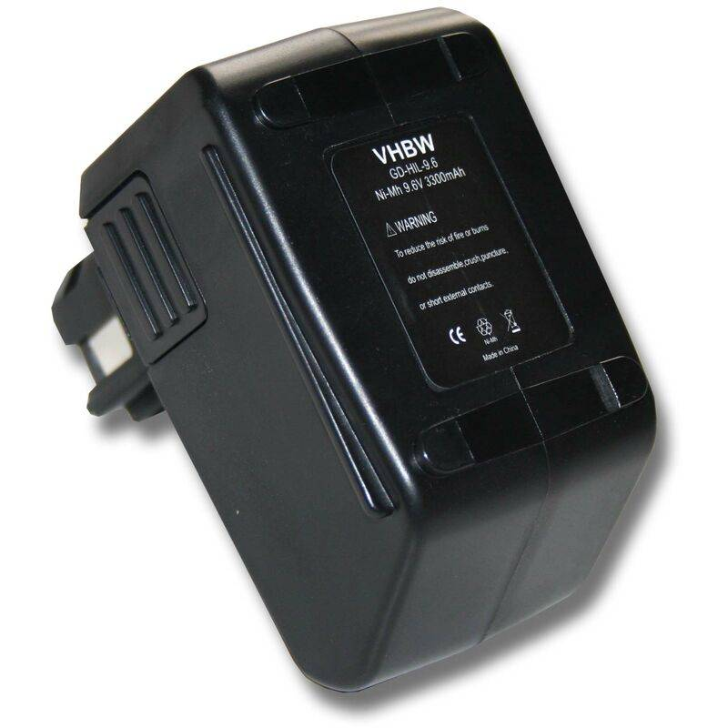 VHBW Batterie VHBW 3300mAh (9.6V) pour outil Hilti BD2000 SF100, SF100A, SFB105.
