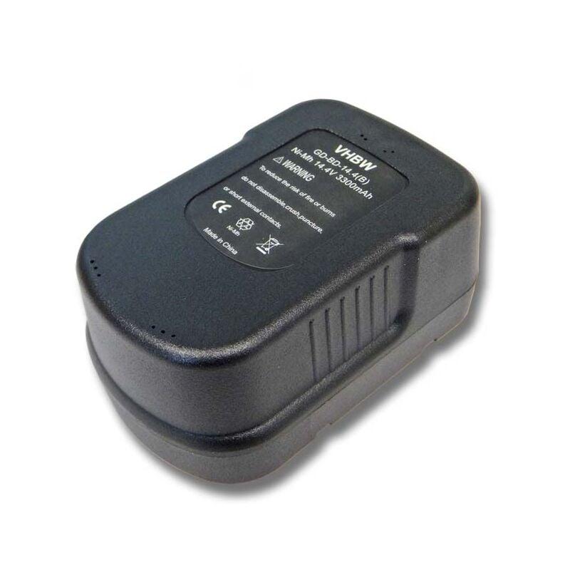 VHBW Batterie vhbw Ni-MH 3300mAh (14.4V) pour outils Black & Decker FIRSTORM