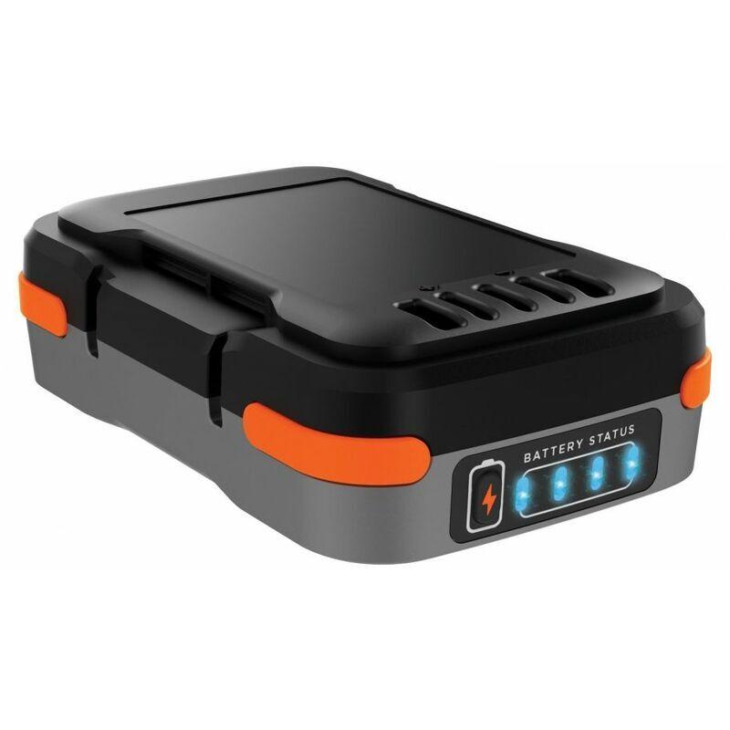 BLACK & DECKER Black&decker; - Batterie lithium 12V 1.5 Ah Chargeur de téléphone Black + Decker