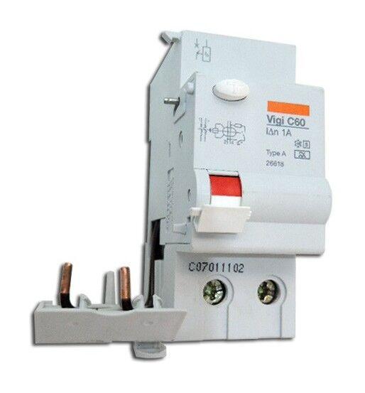 SCHNEIDER ELECTRIC Bloc differentiel 63A 2P 1000mA type A selectif VIGI C60 Muti9 SCHNEIDER