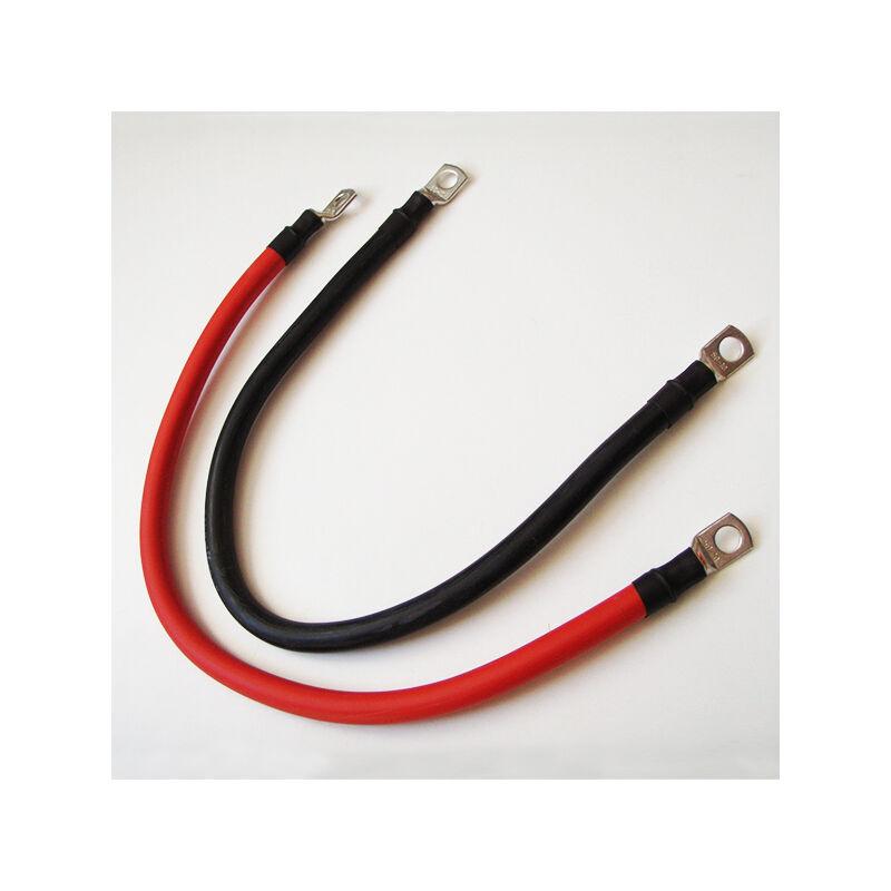 ERREBI CABLAGGI Câbles Paire Batteries Rouge Noir 50mm2 avec Oeillets M8 sur Côtés L 1 m