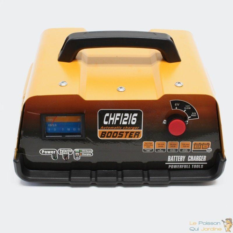 WWW.LEPOISSONQUIJARDINE.FR Chargeur De Batterie Auto-Moto, Rapide, 6 à 12 Volts