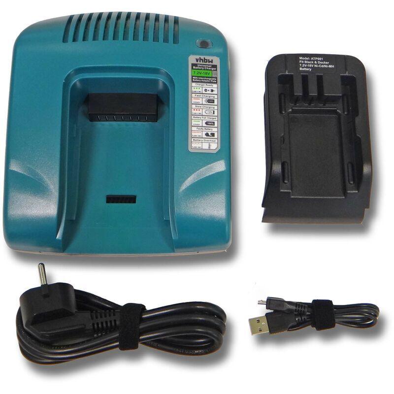 VHBW chargeur secteur, bloc alim. 220V pour outils Black & Decker SX5500, SX6000,