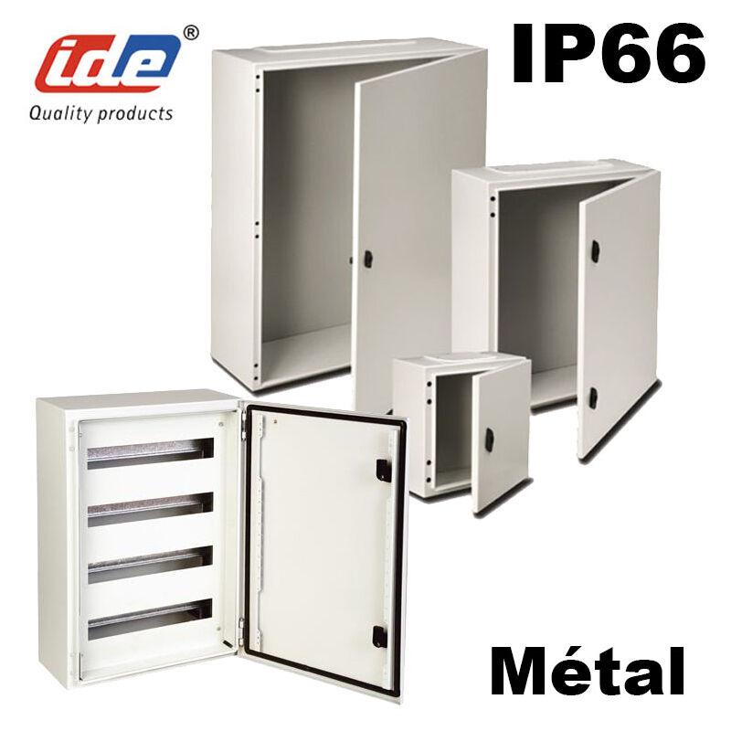 IDE Coffret électrique étanche IP66 en métal IDE Argenta 300X400X200 Porte Vitrée
