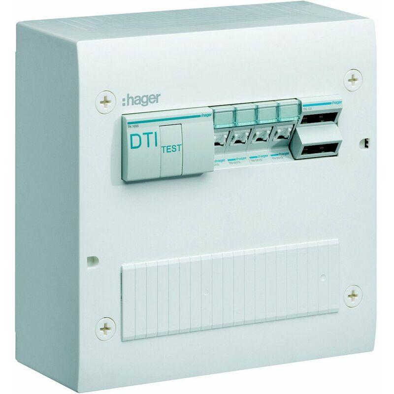 HAGER Coffret VDI basique semi-équipé 2R-20M - Gr.1 - Hager