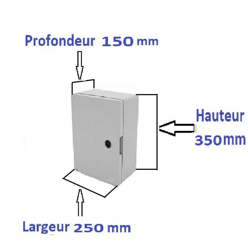AR - Coffrets électriques étanche IP65 en ABS plastique avec de plaque fond