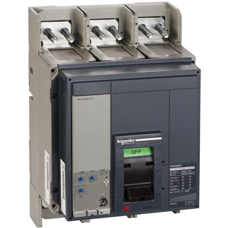 SCHNEIDER Compact NS800N - disjoncteur - Micrologic 2.0 - 800A - 3P 3d - 33466