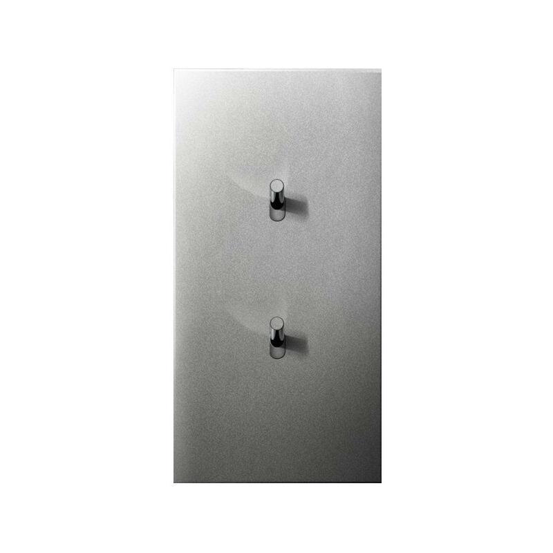 ARNOULD Deux va-et-vient 10A acier satin Art d'Arnould 67504