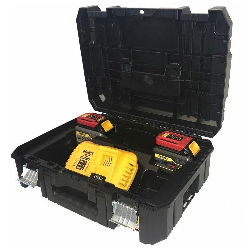 DeWALT Pack 2 batteries XR FLEXVOLT 18V/54V 6Ah/2Ah Li-Ion + chargeur rapide