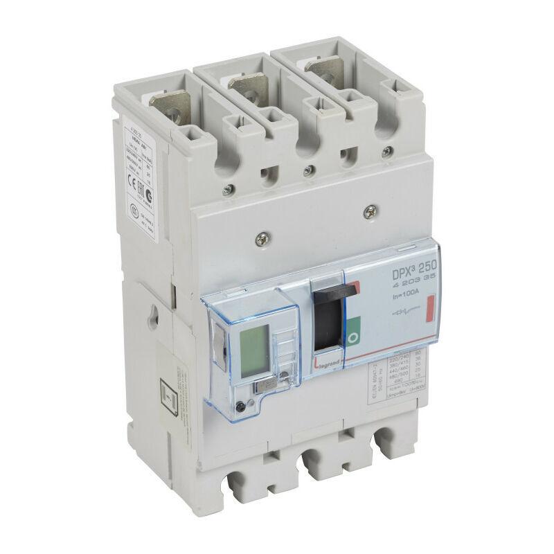 Legrand - Disjoncteur électronique DPX250 pouvoir de coupure 36kA 400V~ 3P 100A