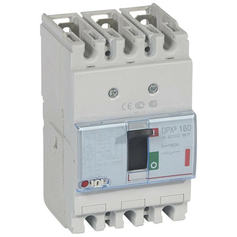 Legrand - Disjoncteur magnétothermique DPX160 pouvoir de coupure 36kA 400V~ 3P