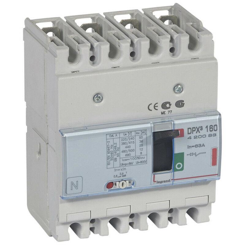 LEGRAND Disjoncteur magnétothermique DPX160 pouvoir de coupure 36kA 400V~ 4P 63A