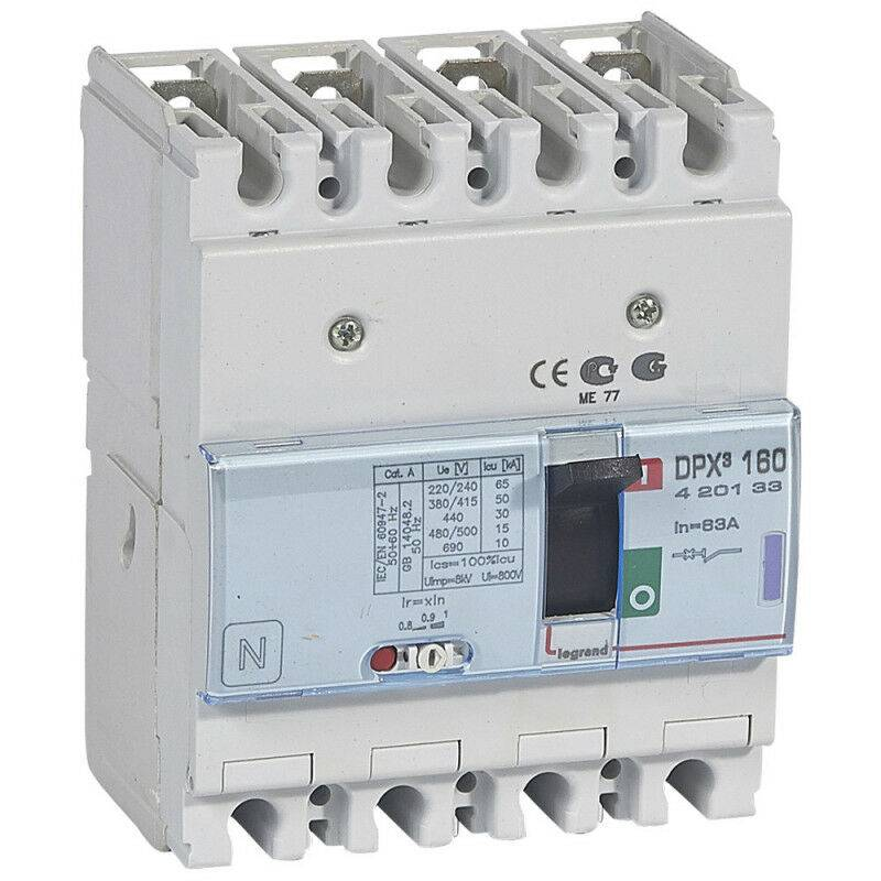 Legrand - Disjoncteur magnétothermique DPX160 pouvoir de coupure 50kA 400V~ 4P