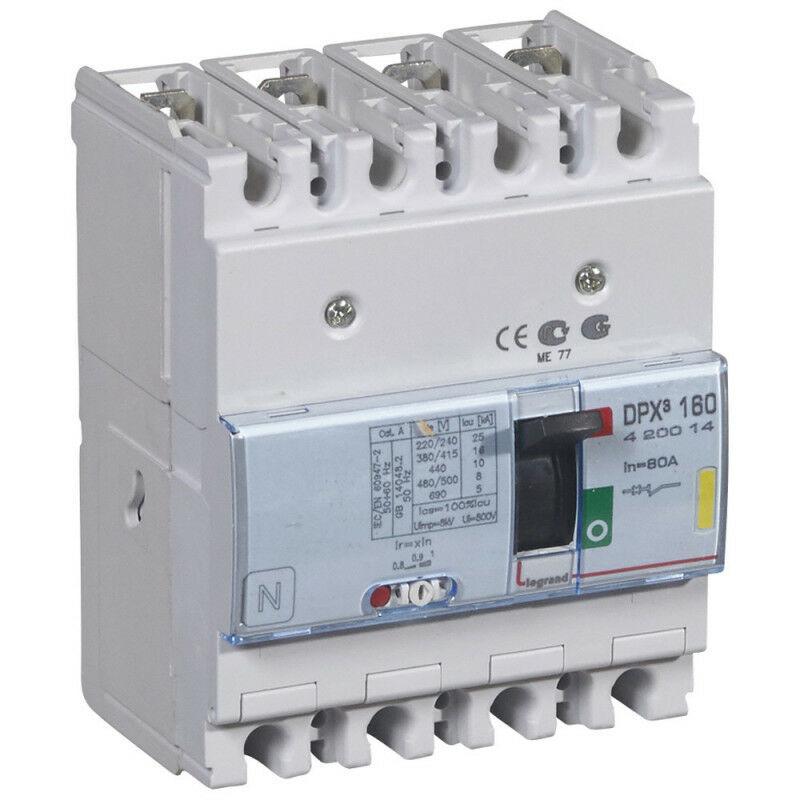 Legrand - Disjoncteur magnétothermique DPX160 pouvoir de coupure 16kA 400V~ 4P