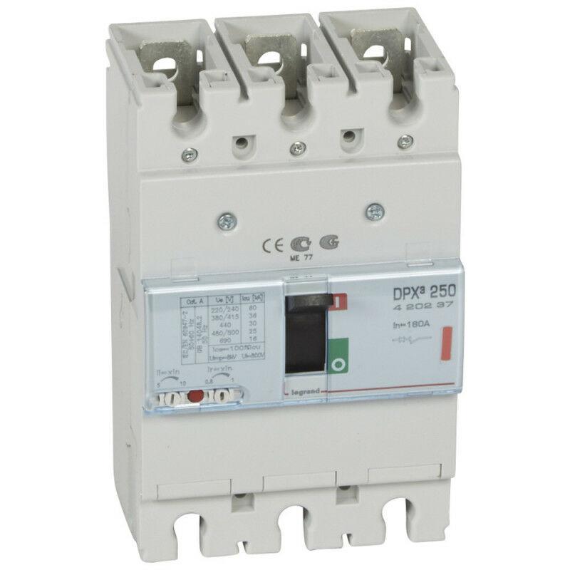 Legrand - Disjoncteur magnétothermique DPX250 pouvoir de coupure 36kA 400V~ 3P