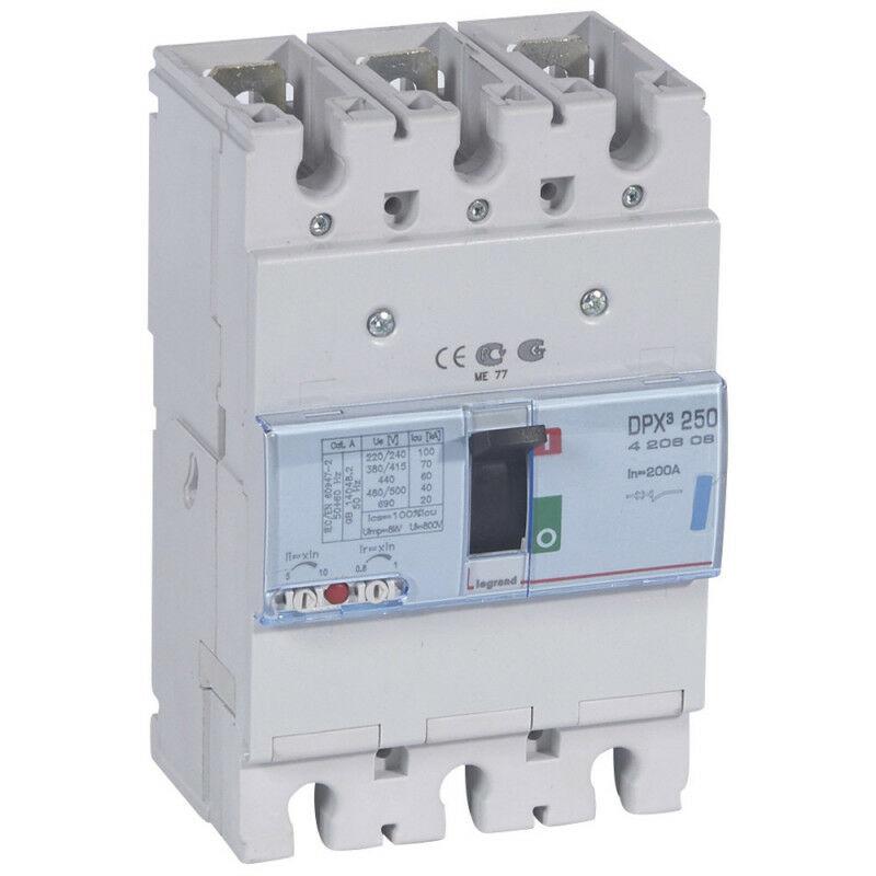 Legrand - Disjoncteur magnétothermique DPX250 pouvoir de coupure 70kA 400V~ 3P