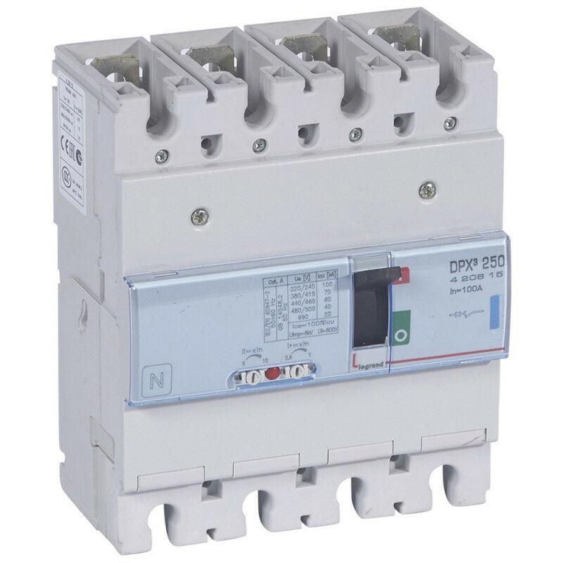 Legrand - Disjoncteur magnétothermique DPX250 pouvoir de coupure 70kA 400V~ 4P