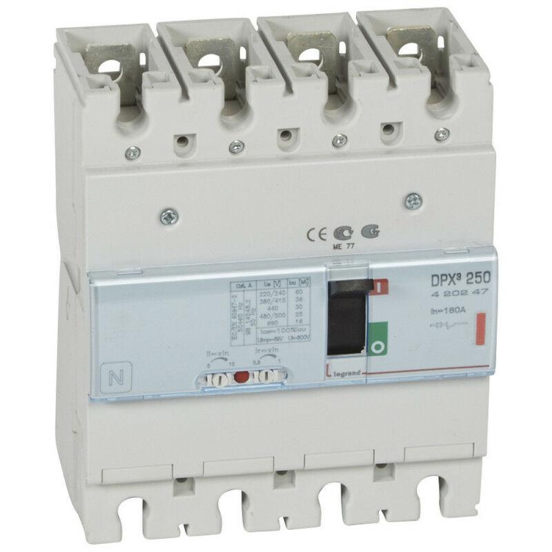Legrand - Disjoncteur magnétothermique DPX250 pouvoir de coupure 36kA 400V~ 4P