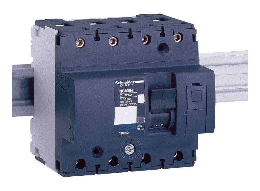 SCHNEIDER ELECTRIC Merlin Gerin 18639 - Multi9 NG125N Disjoncteur modulaire - 3P - 63A - courbe C