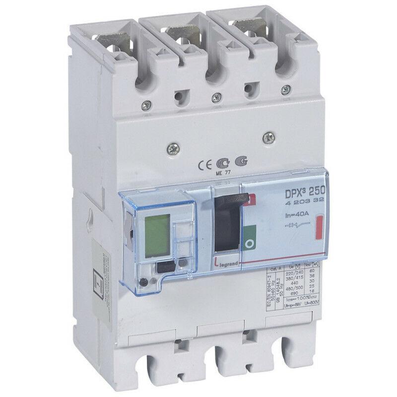 Legrand - Disjoncteur électronique DPX250 pouvoir de coupure 36kA 400V~ 3P 40A