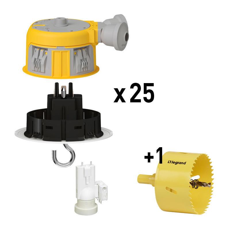 LEGRAND Distributeur modul_up 25 dcl complets + 1 scie cloche