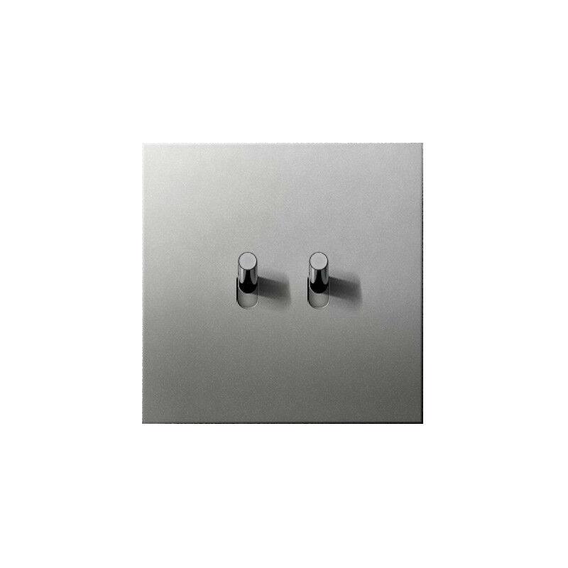 ARNOULD Double va-et-vient 10A acier satin Art d'Arnould 67502