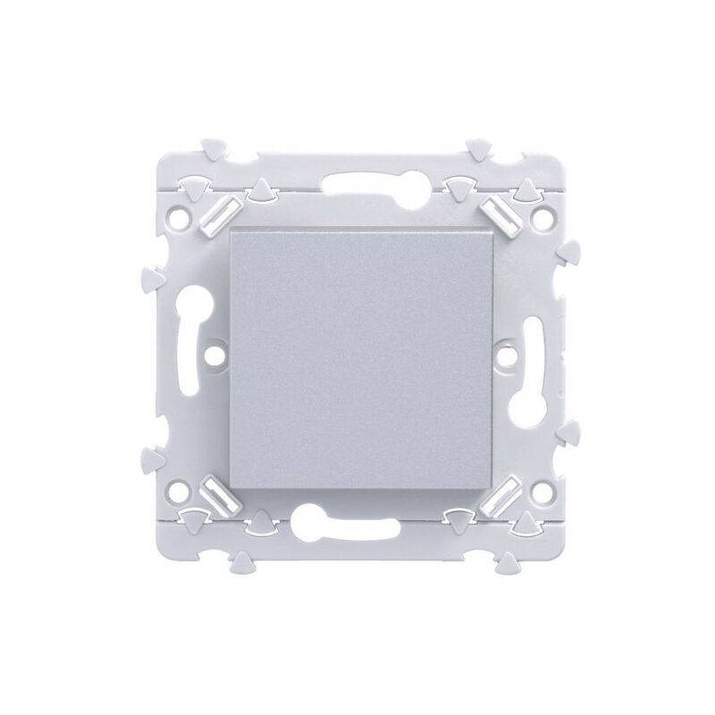 Hager - Essensya lot de 50 interrupteurs va-et-vient Titane (WE00150T)