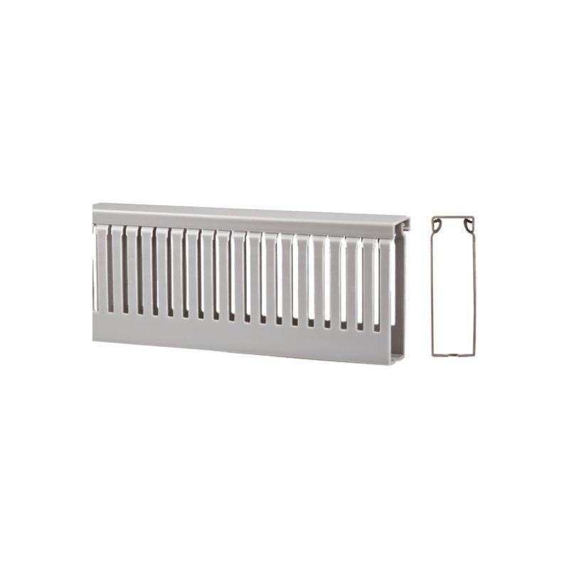 RS PRO Goulotte sécable Gris en PVC, Ouvert, 80 mm x 100mm 2m pour armoire