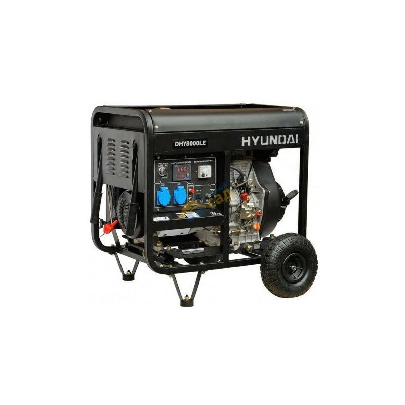 Hyundai E - Groupe électrogène diesel Hyundai 6500w DHY8500LEK mono