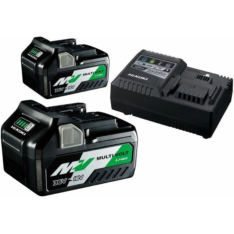 HiKOKI BoosterPack 2x batteries BSL36B18 + chargeur UC18YSL3 - UC18YSL3WA2Z