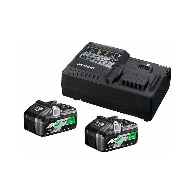 HiKOKI UC18YSL3WFZ BoosterPack Multi-Volt - (2 x 8Ah)18V - 4Ah 36V - chargeur
