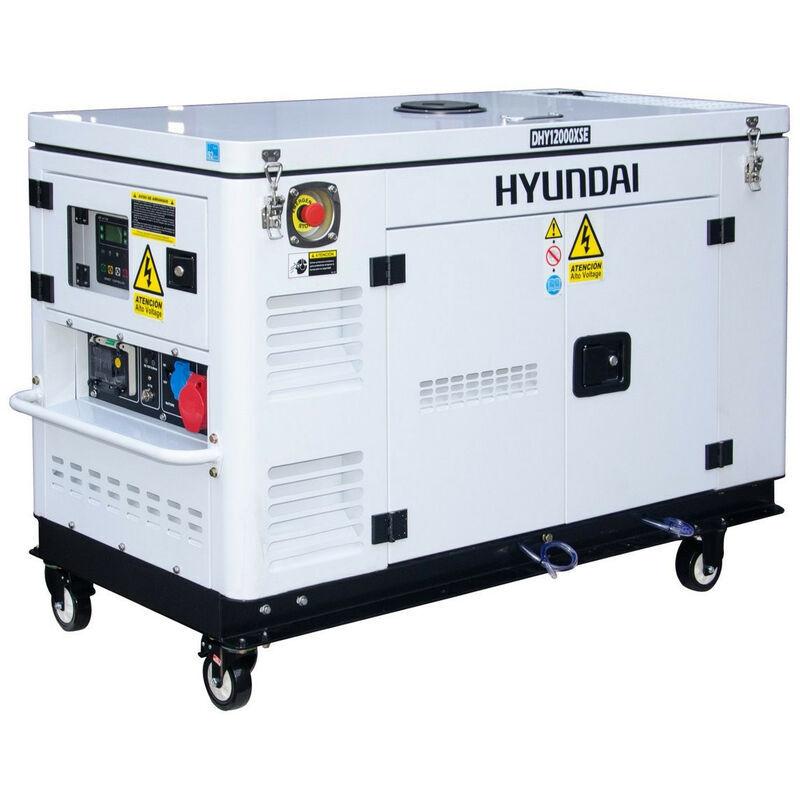 HYUNDAI Groupe électrogène Diesel 12kVA mono et tri - DHY12000XSE-T