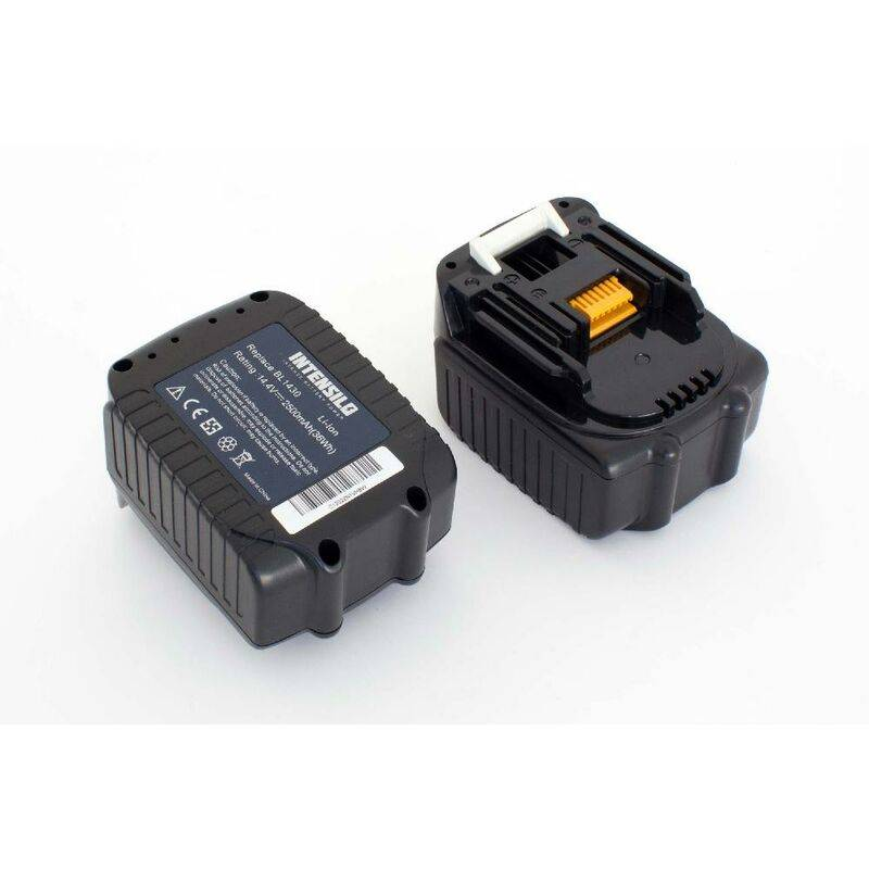 INTENSILO 2x Li-Ion batterie 2500mAh (14.4V) pour outil électrique outil