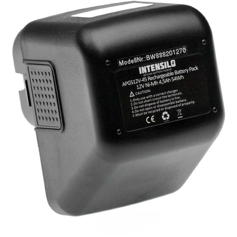 INTENSILO batterie compatible avec Lematec 12V outil électrique (4500mAh, NiMH,