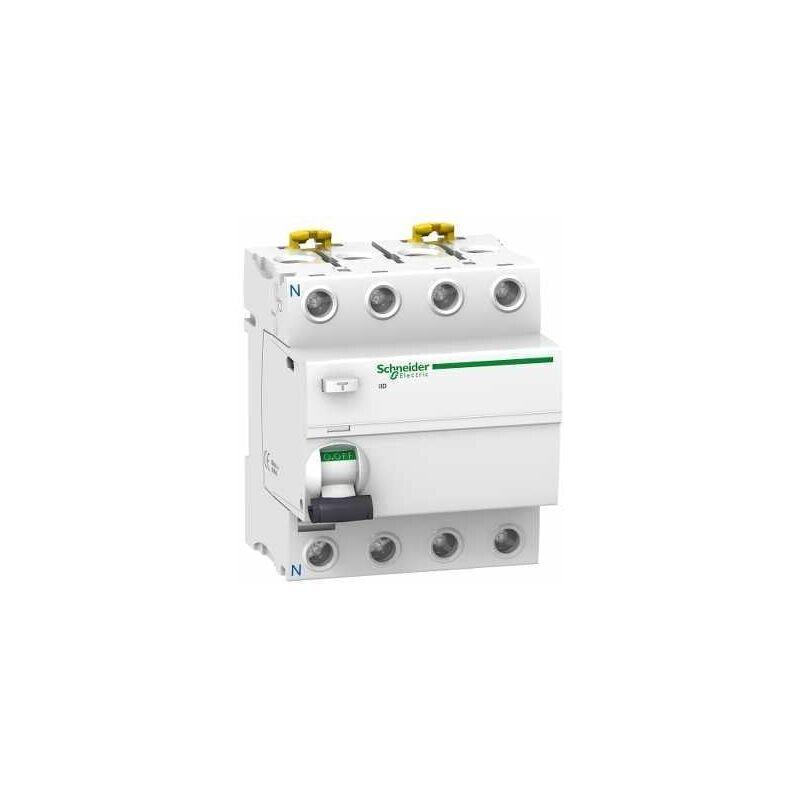 Schneider - Acti9, iID interrupteur différentiel 4P 40A 300mA sélectif type AC