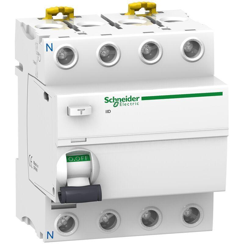 Schneider - Acti9, iID interrupteur différentiel 4P 63A 300mA sélectif type Asi