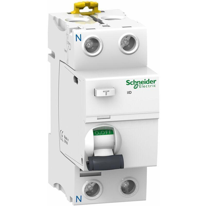 Schneider - Acti9, iID interrupteur différentiel 2P 63A 300mA sélectif type AC