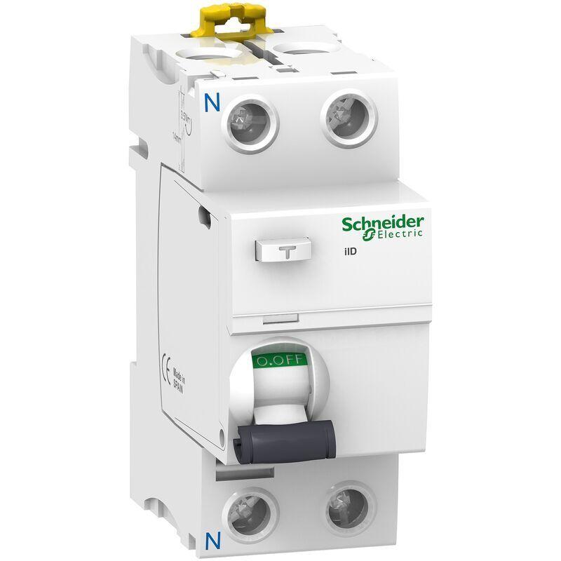 Schneider - Acti9, iID interrupteur différentiel 2P 63A 300mA sélectif type Asi