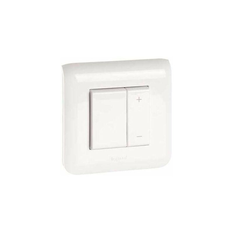 Legrand - Interrupteur variateur toutes lampes - 2 fils - 2 modules - Blanc